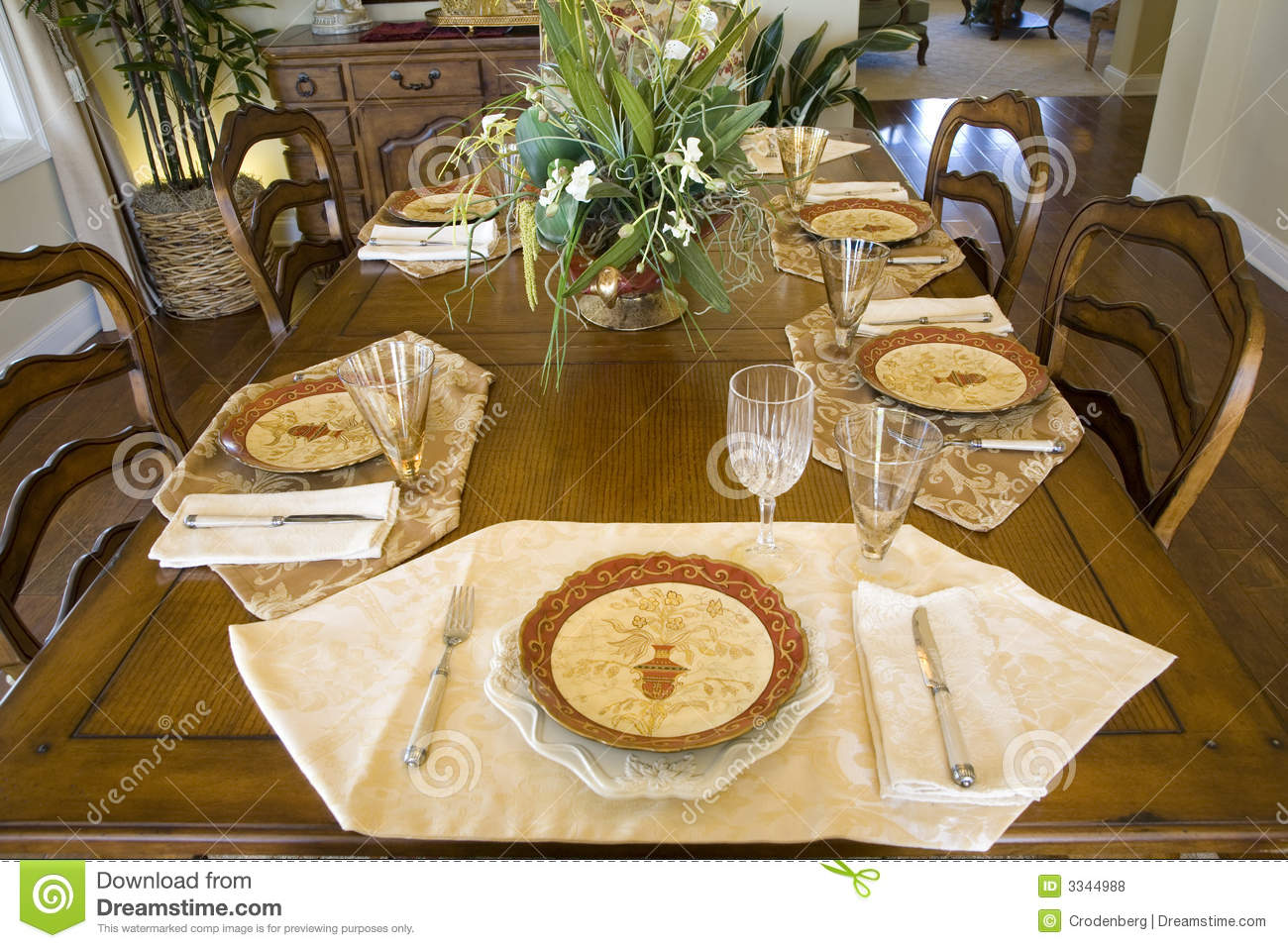Dining Table 2047 Stock Photo Image Of Room Residential