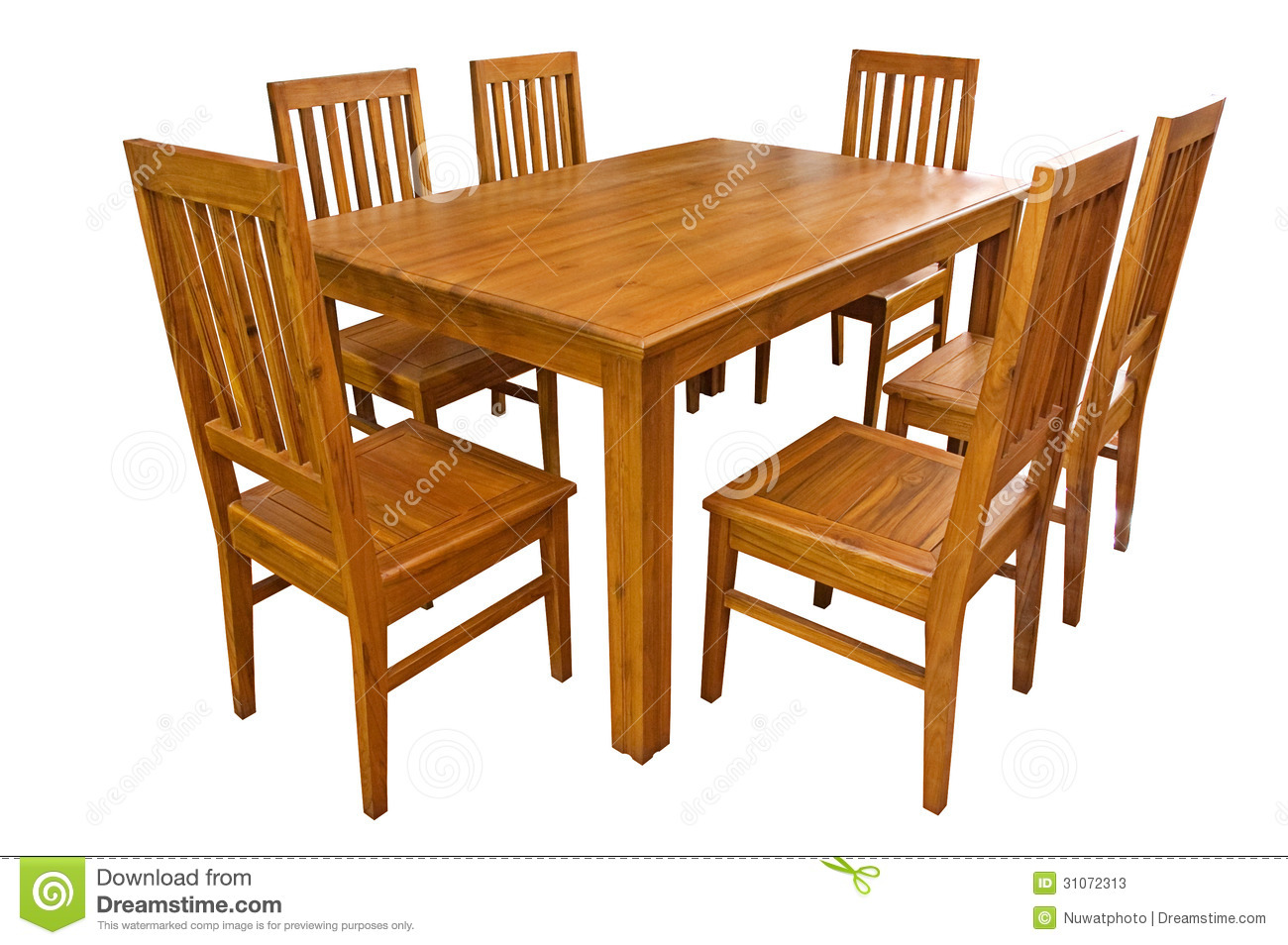 Table With Chairs Dining Table And Chairs Isolated Stock Image Image Of Isolated