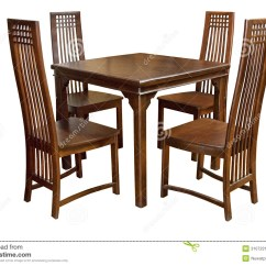Just In Time Tables Chairs Spandex Chair Covers Vancouver Dining Table And Isolated Royalty Free Stock