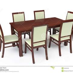 White 6 Chair Dining Table Restoration Hardware Chairs With Six Stock Illustration
