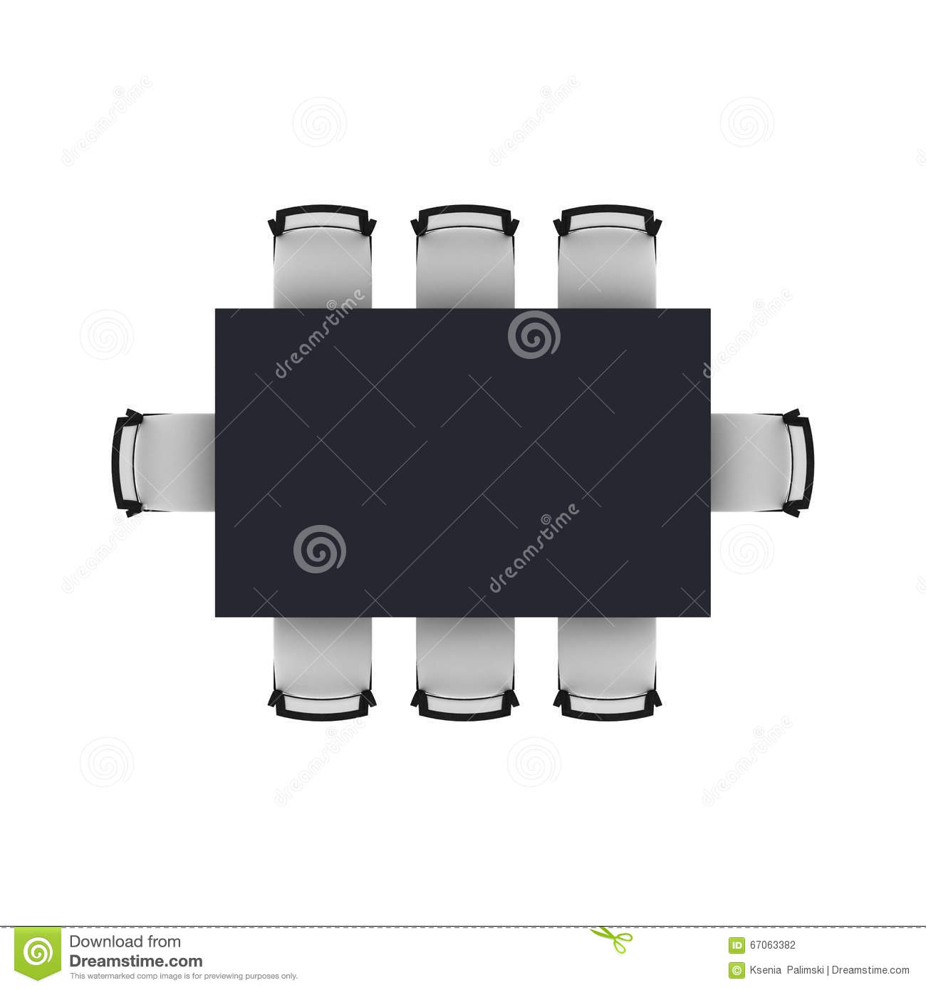 Dining table top view stock illustration Image of table