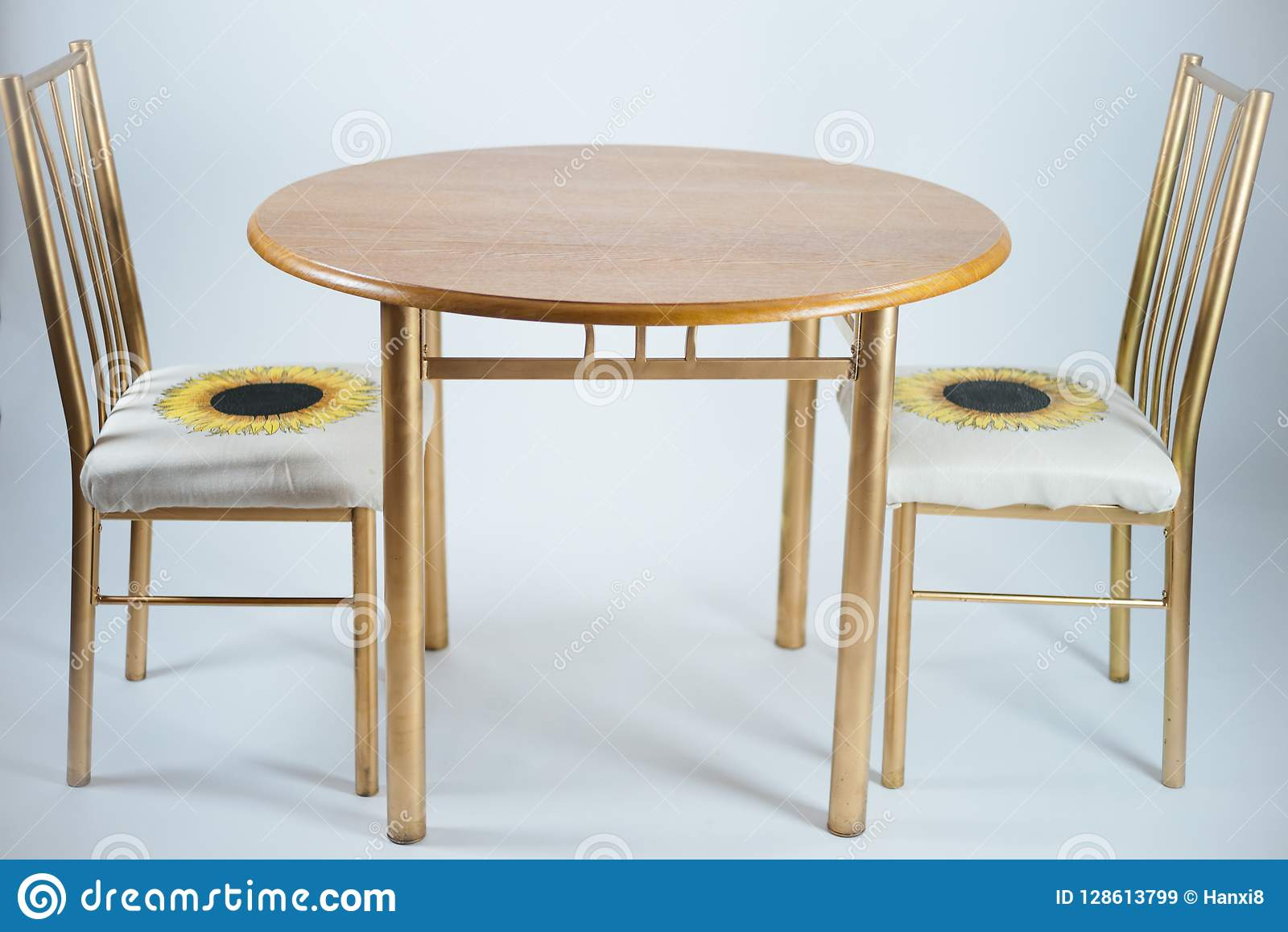 two chair dining table drafting chairs with arms stock image of round house