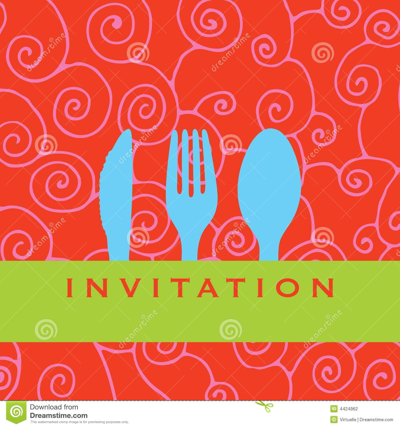 Dinner Invitation Stock Vector Illustration Of Tcard