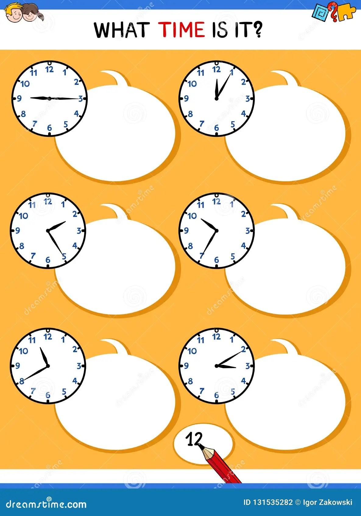 Dire Le Temps Avec L Activite Educative D Horloge