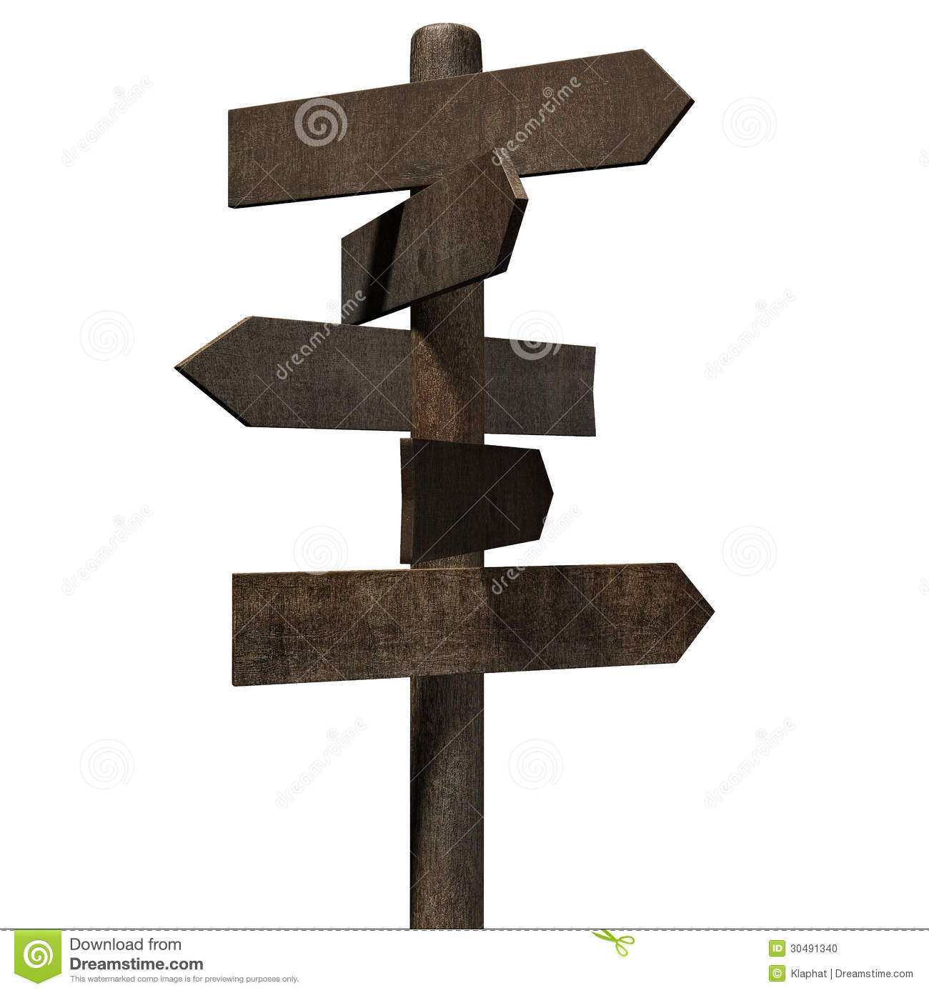 directional wood sign stock