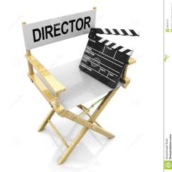 Directors Chair White Wooden Cushion Director And Clapboard Royalty Free Stock Images