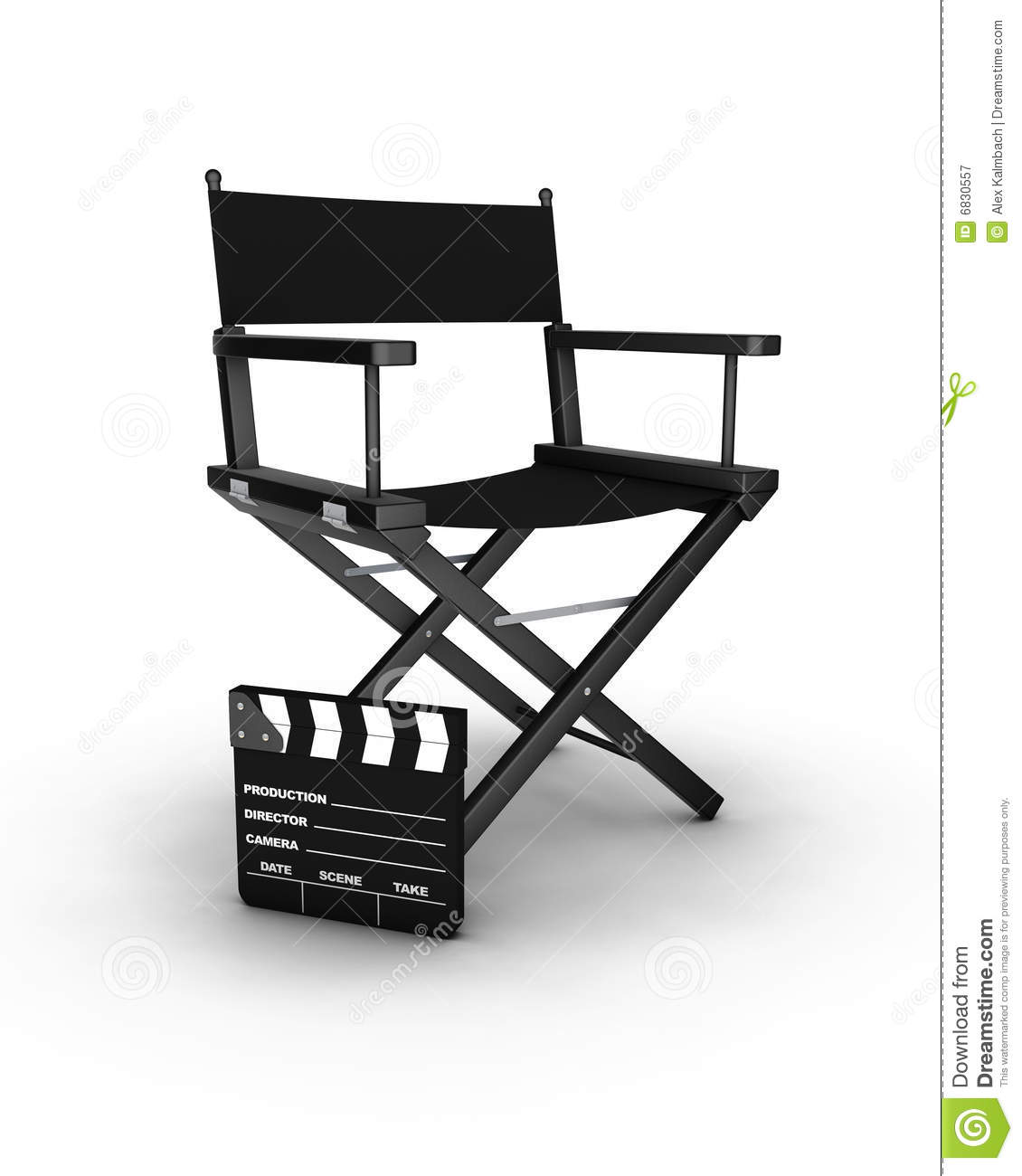 foldable chair plans peacock wicker for sale director's royalty free stock photography - image: 6830557