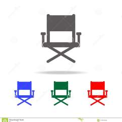 Chair Design Icons Swivel Ashley Furniture Director S Icon Elements Of Cinema And Filmography Multi Colored Premium Quality Graphic Simple For Websites Web