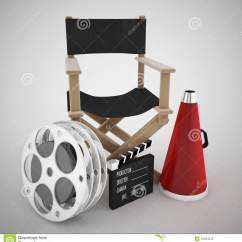 High Quality Directors Chairs Under The Weather Tent Chair Australia And Cinema Concept Stock Illustration