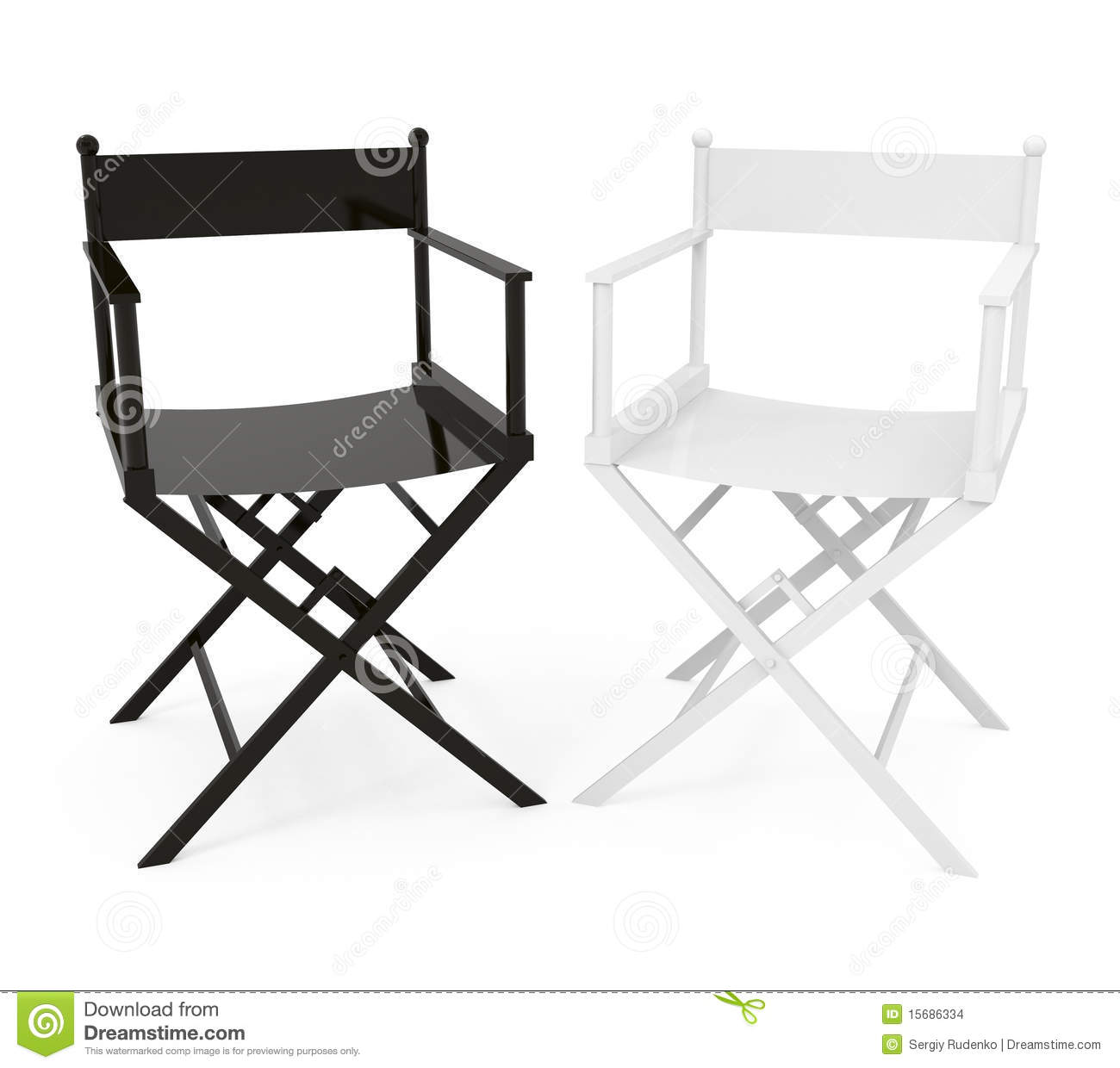 directors chair white leather dining stock illustrations 859 isolated on 3d illustration royalty free