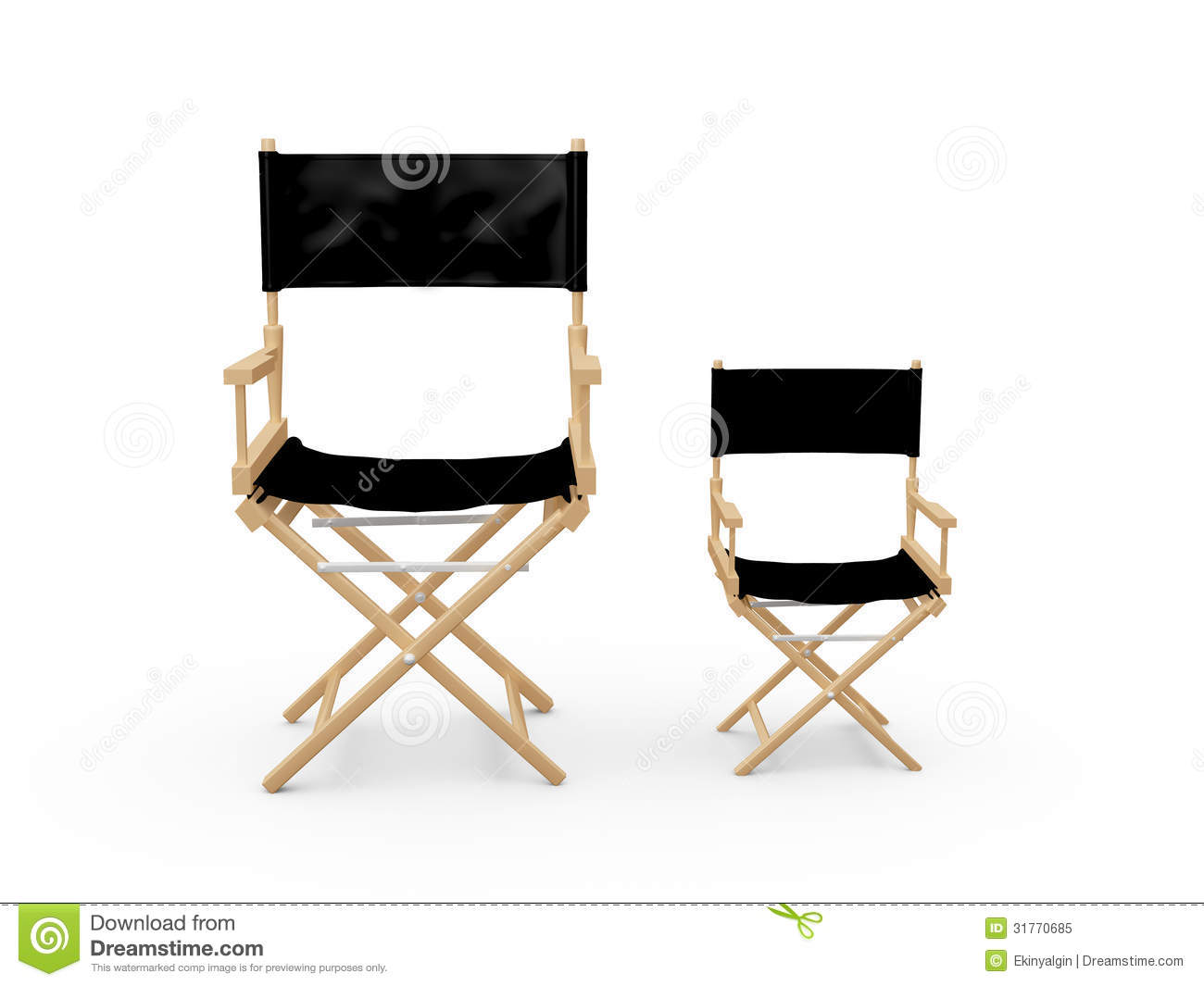 chair stool difference gym as seen on tv directors chairs stock illustration image of