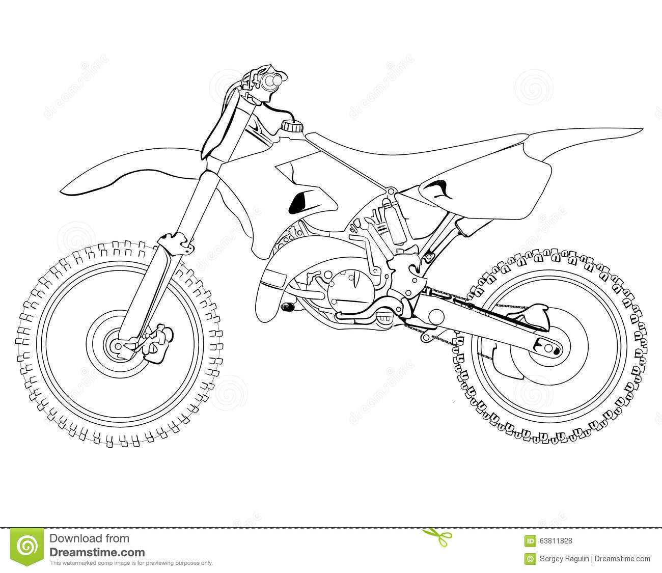 Dirt bike sketch stock photo. Image of headlight
