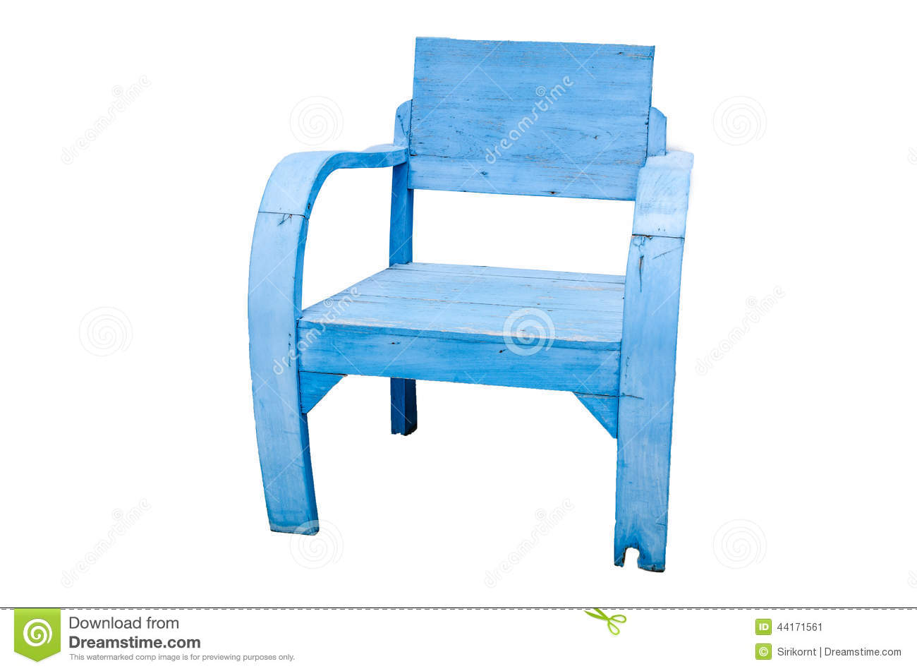 old blue chair ergonomic insert dirty wooden stock image of object