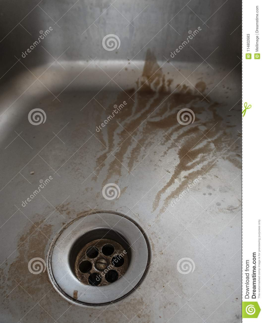 https www dreamstime com dirty stainless steel sink dirty stainless steel sink dire need cleaning image114802683