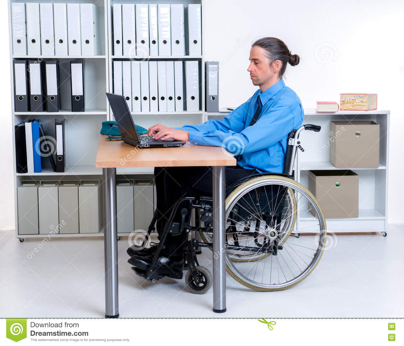 wheelchair jobs metal glider chair disabled man in at work royalty free stock