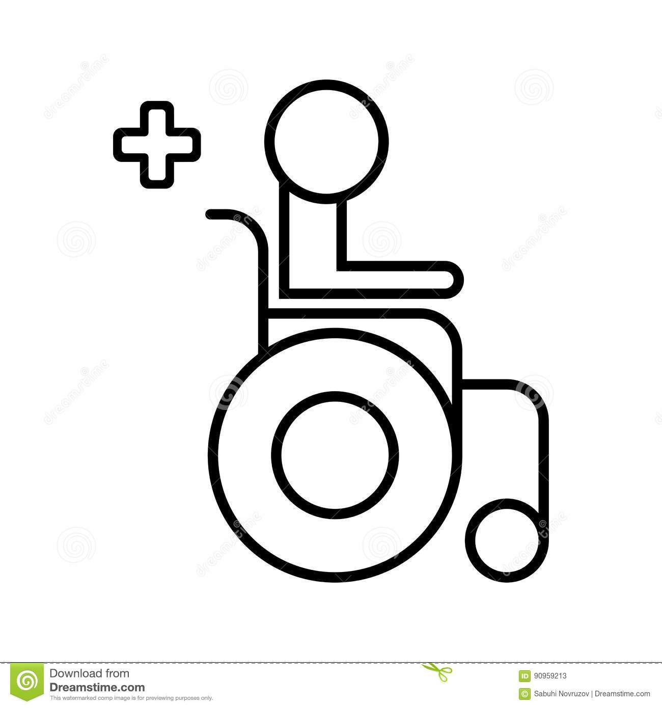 Disabled Handicap Icon Wheelchair Medical Icon