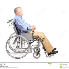 Wheelchair Man Bedroom Rattan Chair A Disabled Senior Posing In Royalty Free