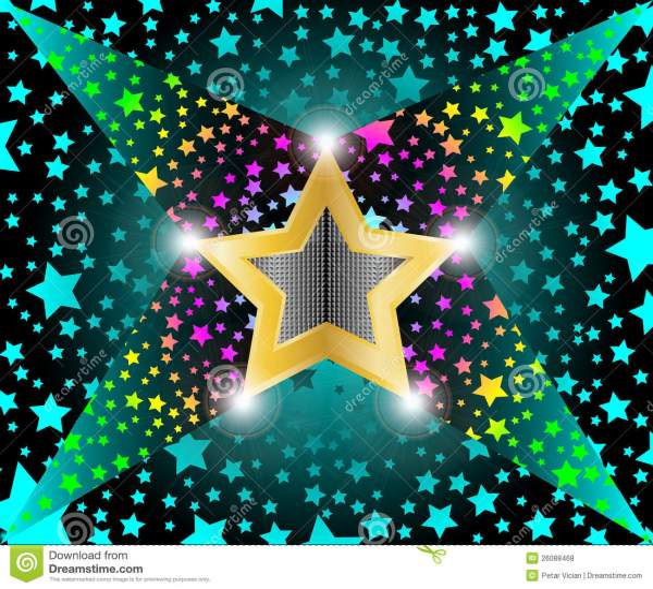 Disco Light Shooting Stars Stock Vector. Illustration Of Dark - 26088468