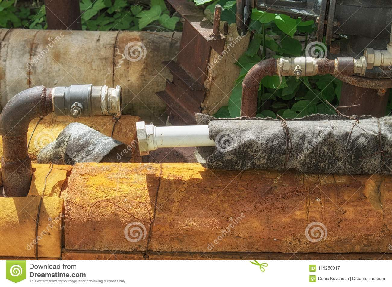 Disconnected Water Supply Pipes Cut Off For Non Payment