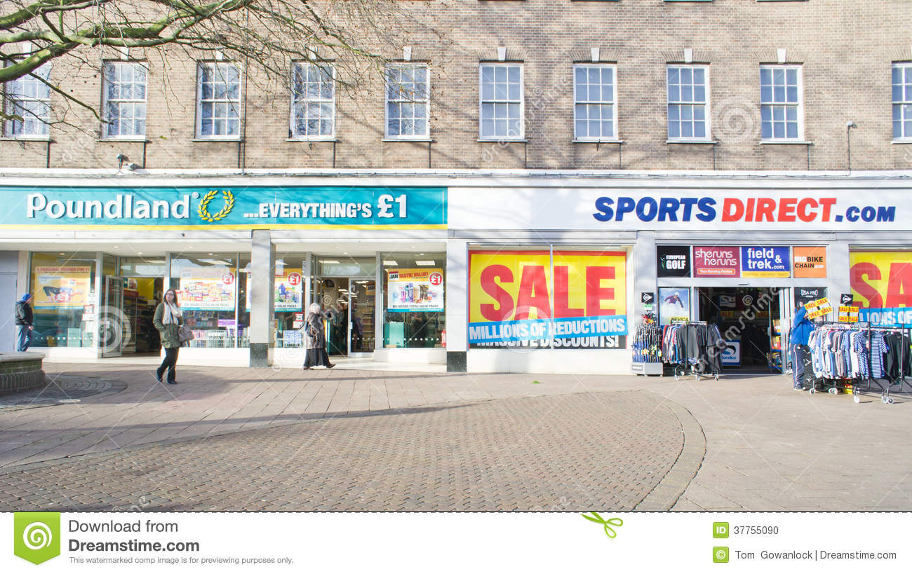Discount shops editorial image. Image of british. store - 37755090
