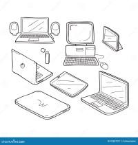 Disegno Di Scarabocchio Del Computer Illustrazione di ...