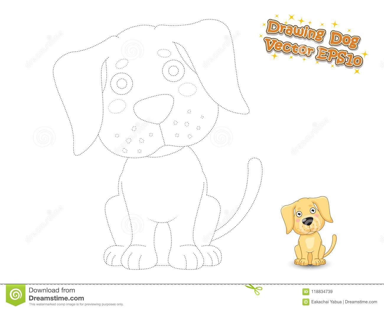 Disegno E Cucciolo Sveglio Labrador Del Cane Del Fumetto