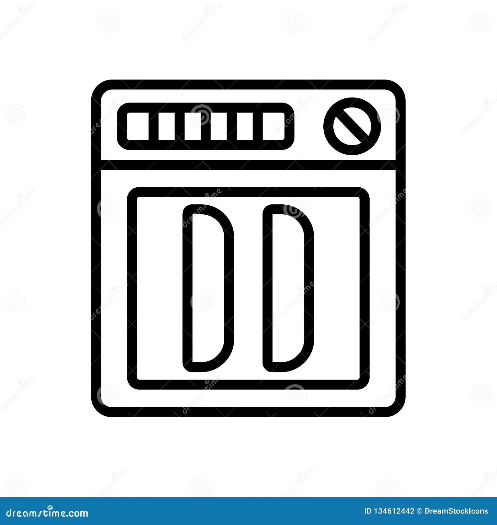 dishwasher icon vector isolated