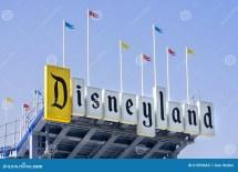 Disneyland Park Anaheim California Sign