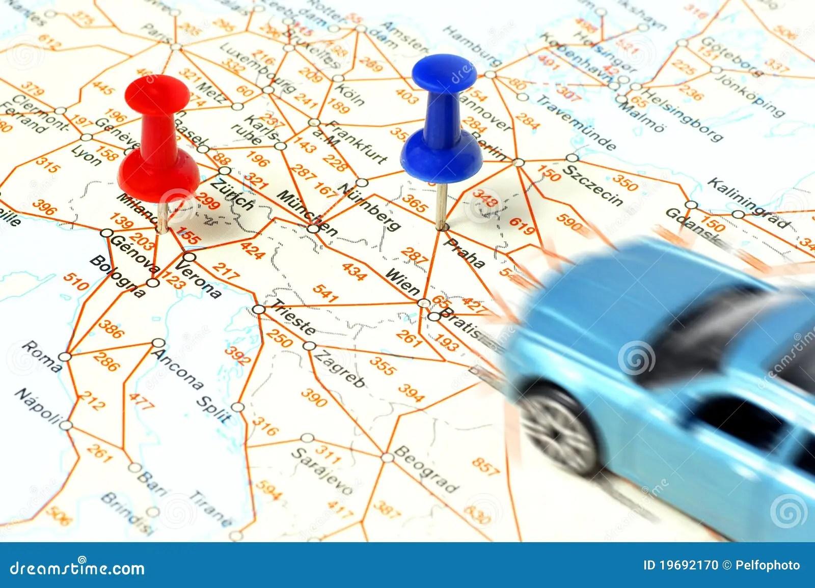 Distance Between Cities Stock Photo Image 19692170