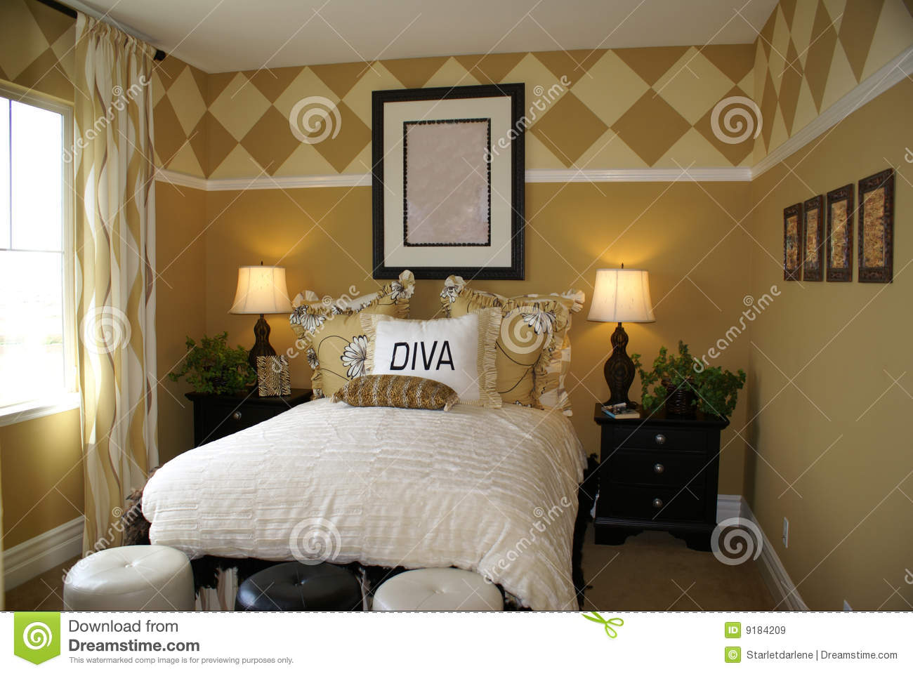 Diva Bedroom stock image Image of white decorater