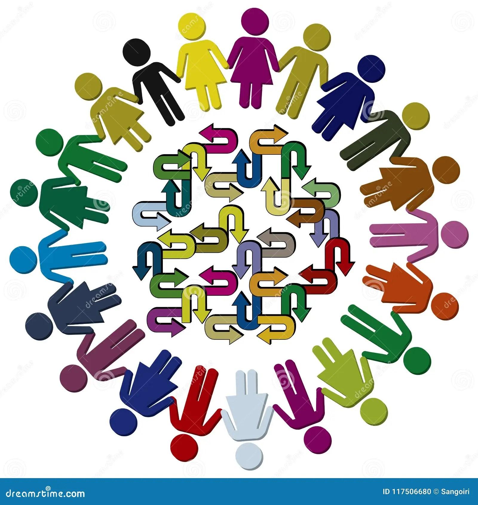 Cultural Diversity Of Children Stock Illustration