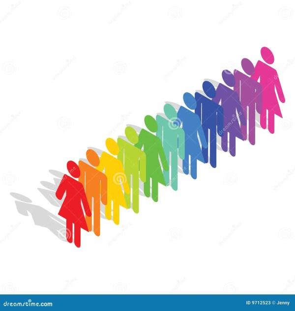 Diversity Stock Illustration. Of Friends Gang