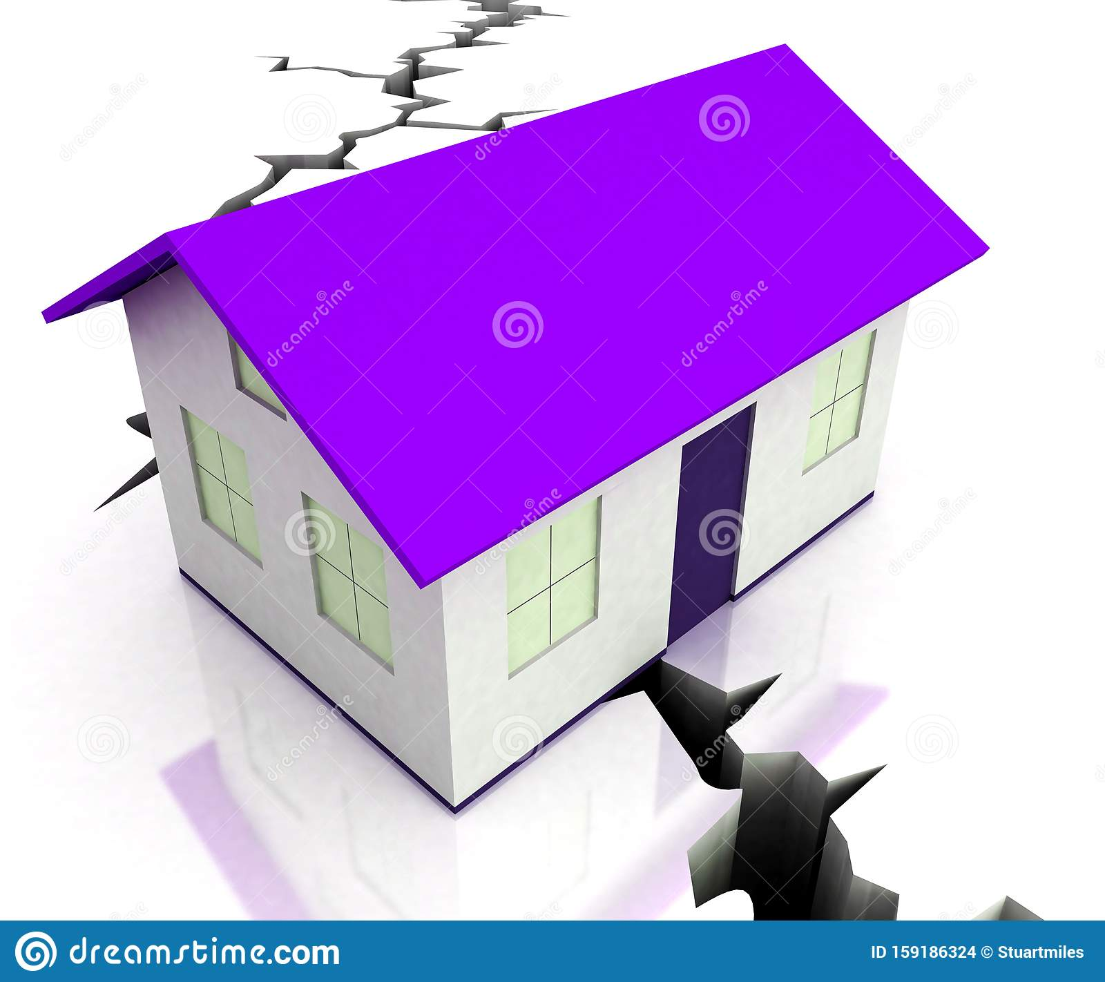 Divorce House Split Icon Depicts Legal Sharing Of Property