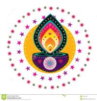 Diwali Candle Light Stock Vector - Image: 42126732