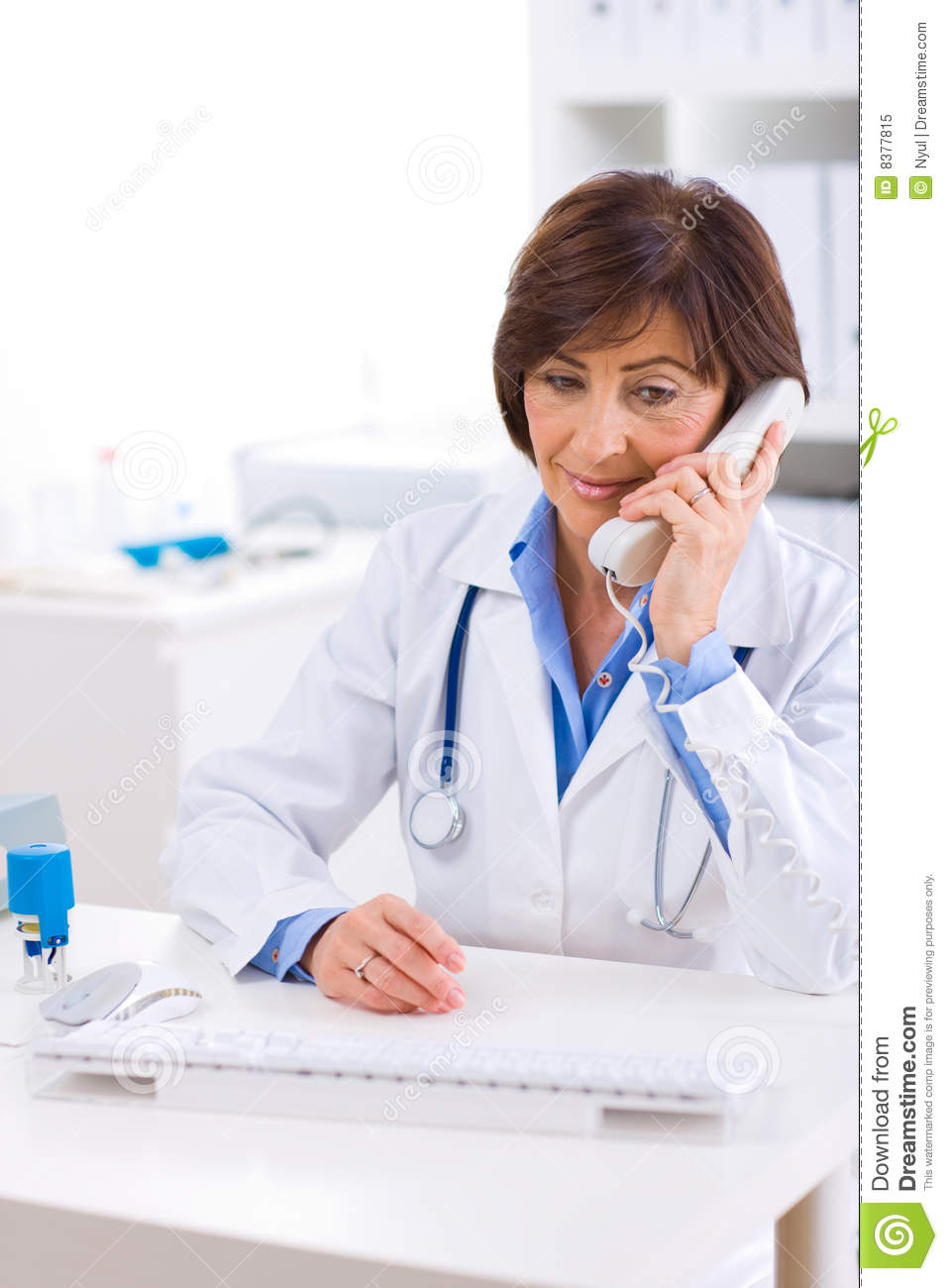 Doctor Calling On Phone Royalty Free Stock Photo  Image