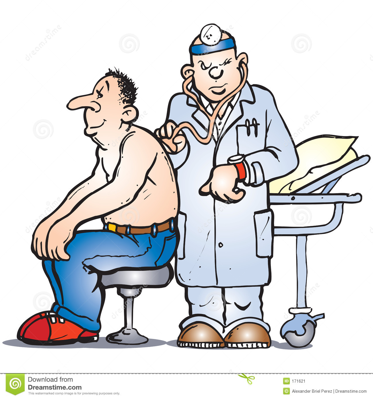 Doctor Check Stock Image