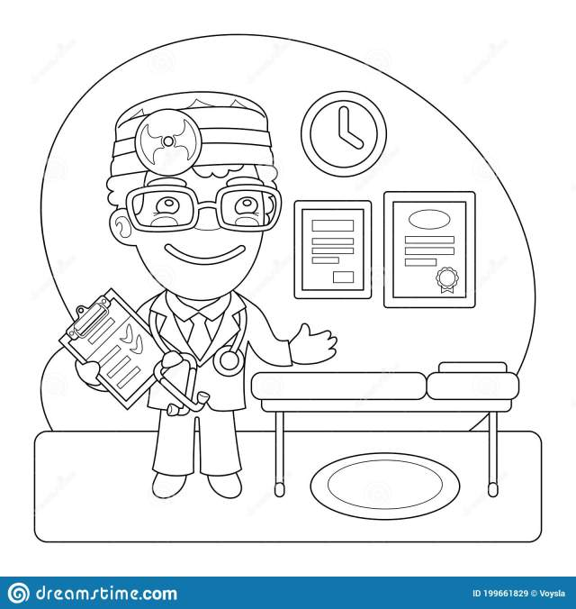 Doctor Coloring Stock Illustrations – 30 Doctor Coloring Stock
