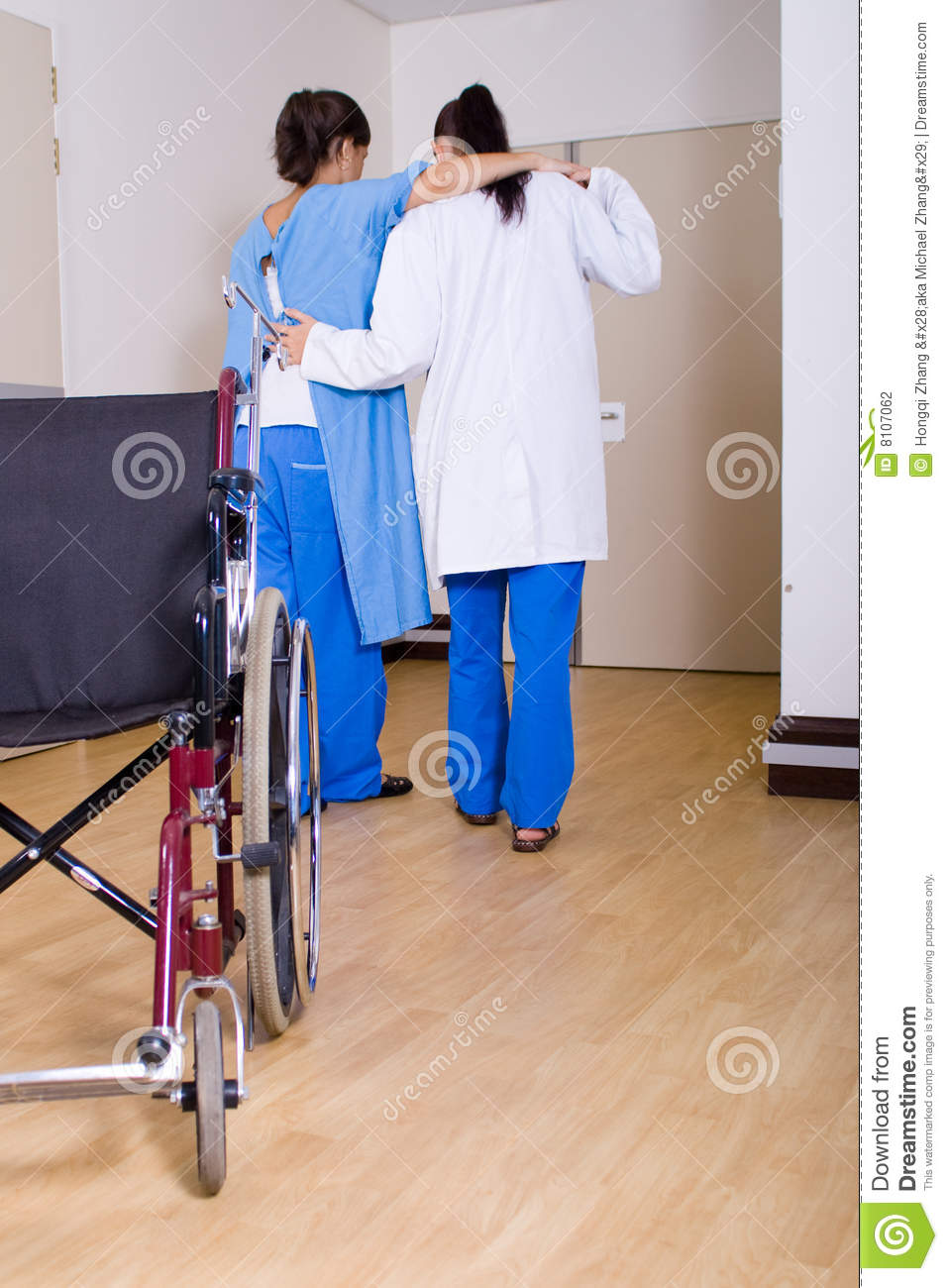 wheel chair prices lexington mission style dining chairs doctor helping patient stock photography - image: 8107062