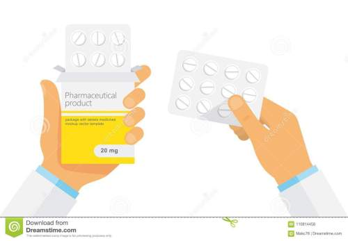 small resolution of doctor holding blister pack of pills in hands