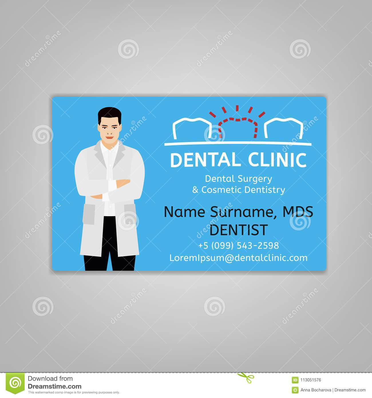 hight resolution of doctor id card
