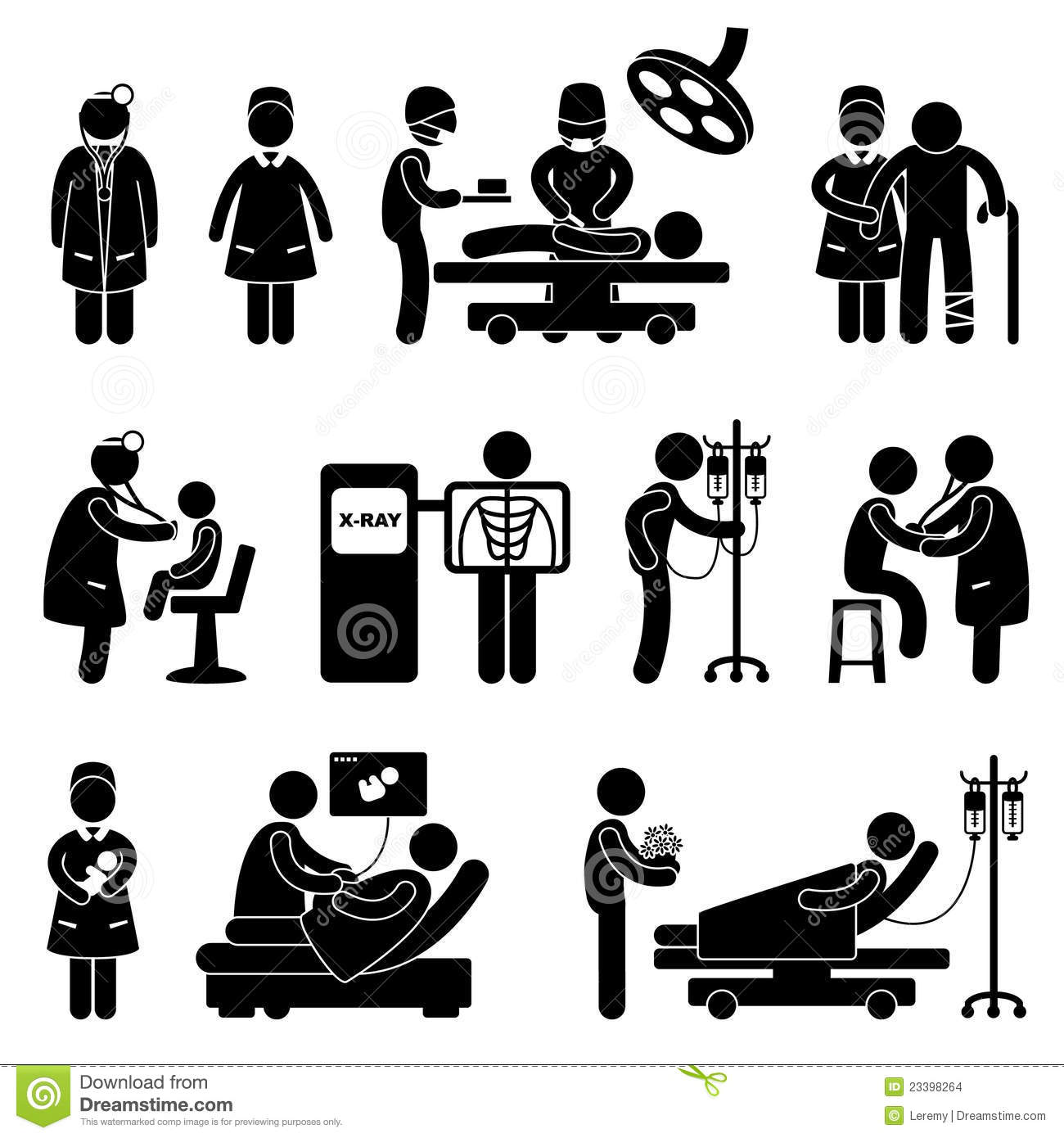 Doctor Nurse Hospital Clinic Medical Surgery Stock Images