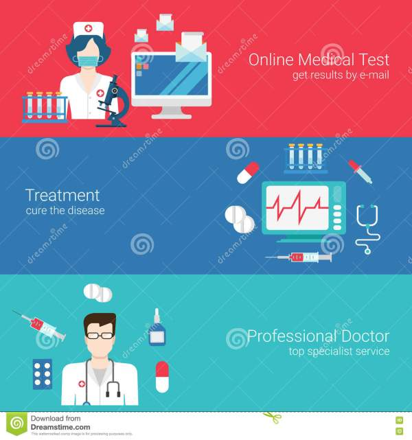Doctor Nurse Medical Care Staff Concept Flat Banner Icon