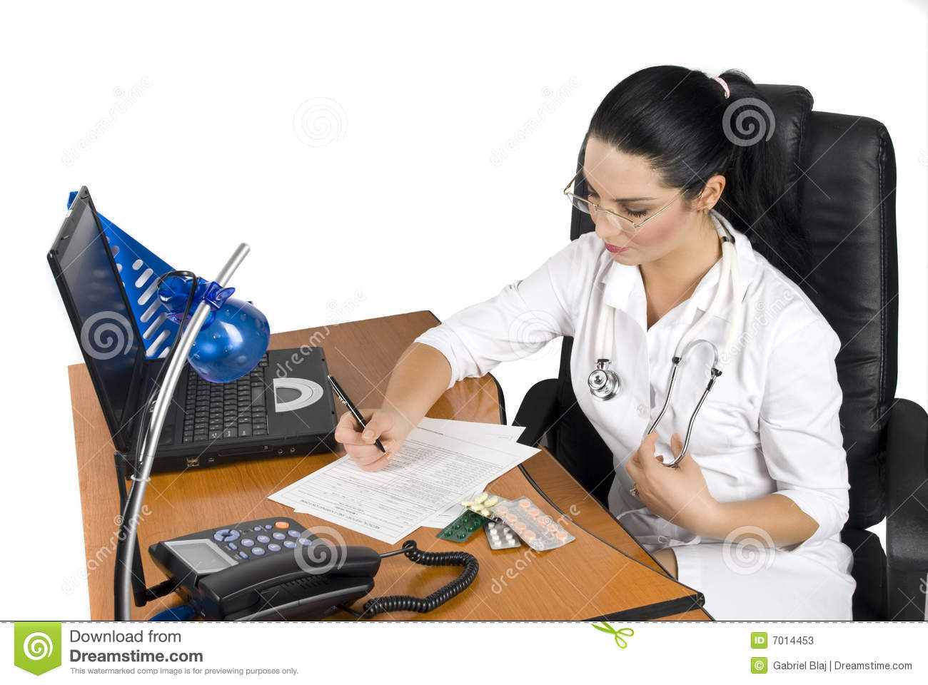 Doctor Write A Medical Prescription Stock Image - Image of ...