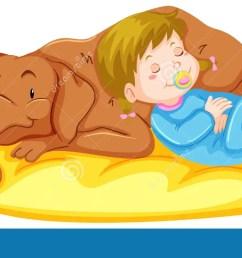 dog and girl sleeping on mat [ 1300 x 658 Pixel ]