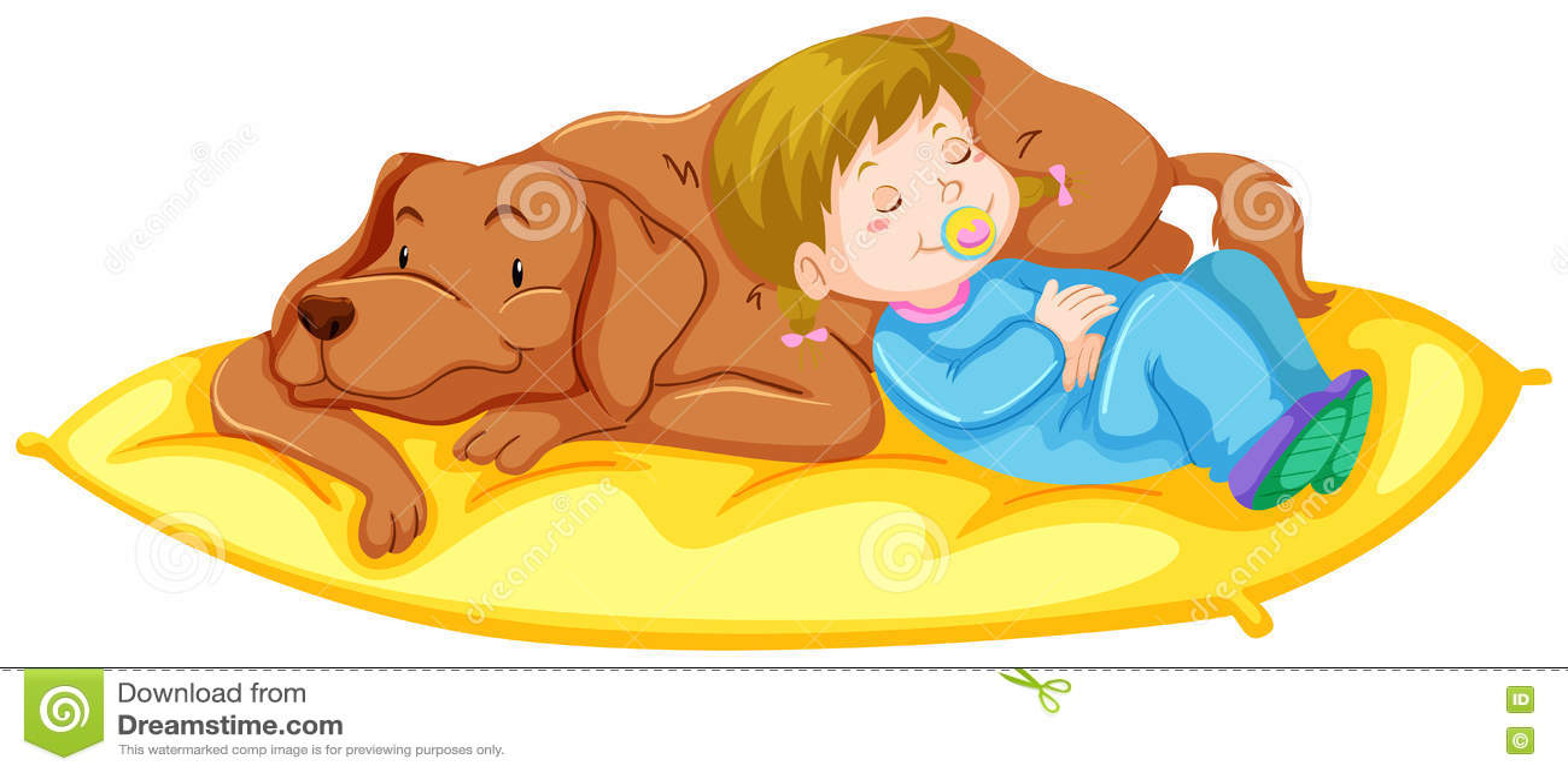 hight resolution of dog and girl sleeping on mat