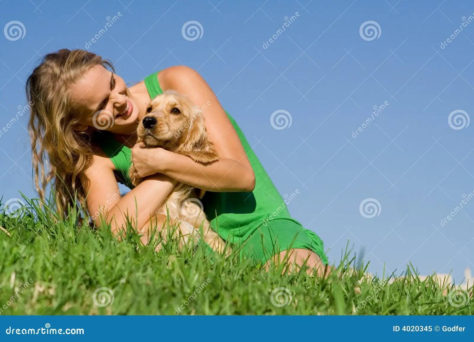 Dog Owner Stock Image Image Of Teenage Playing Outside