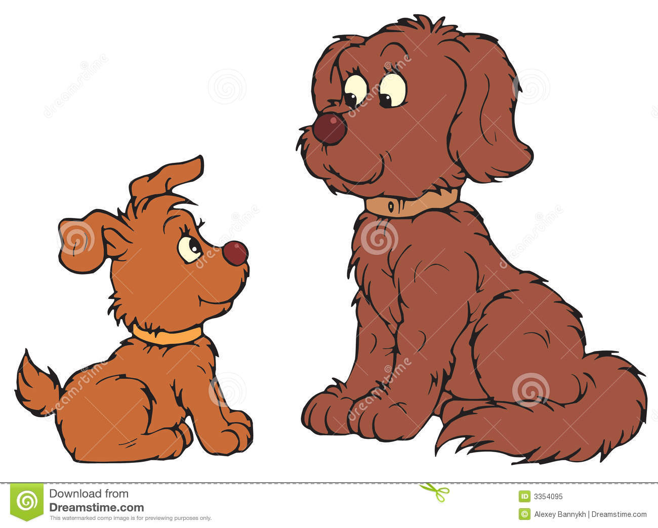 hight resolution of dog and pup vector clip art
