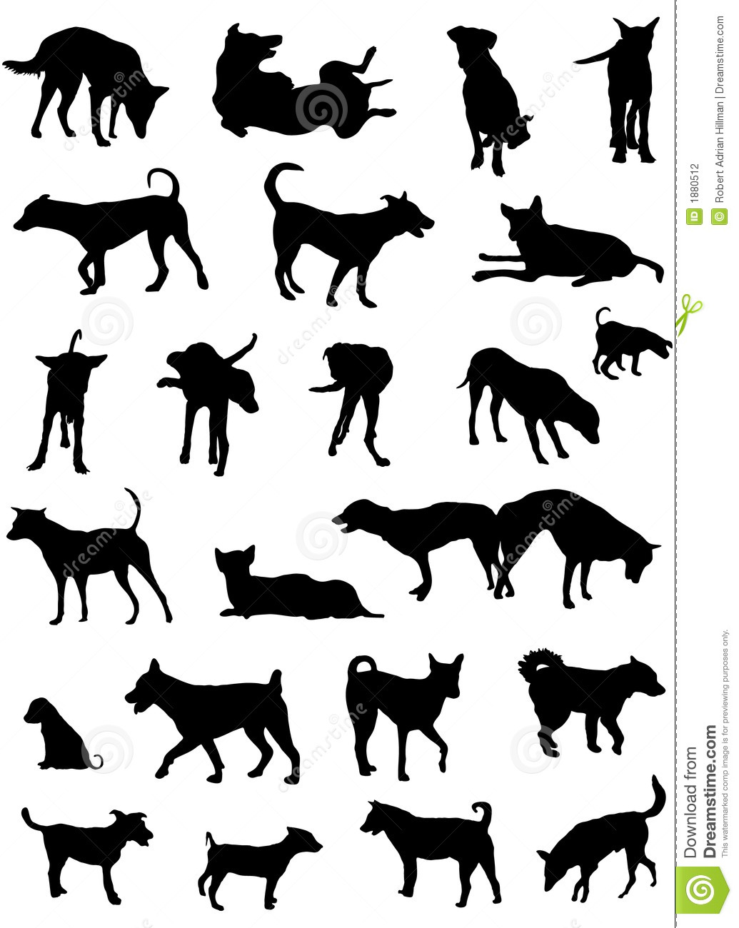 Dog Silhouettes Stock Vector Illustration Of Clipart