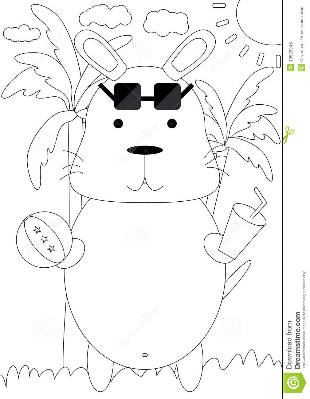 Free coloring pages of handas animals