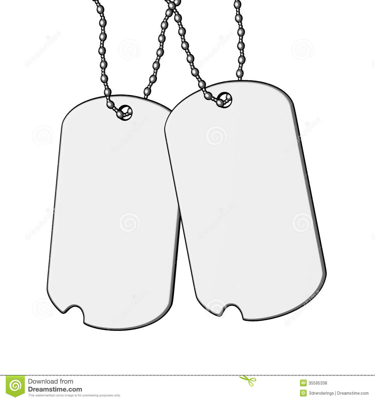 Dog Tags Stock Illustration Illustration Of Dogtag Toon